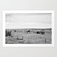 Buy Marfa Desert in Black and White by Stephanie DuBois as a high quality Art Print. Worldwide shipping available at Society6.com. Just one of millions of…