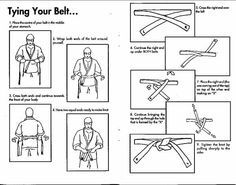 learning how to tie a judo belt diagram for kids - Google Search