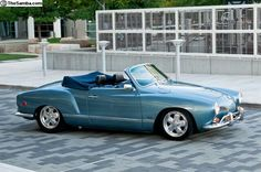 1969 Saphire Blue VW Karmann Ghia Convertible