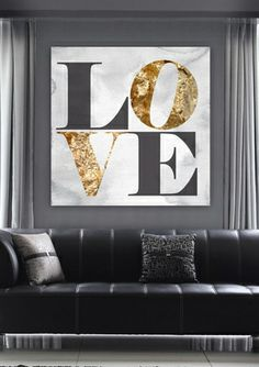'Build on Love Stone' Canvas Art - Oliver Gal Artist Co.