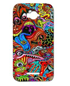 CUSTODIA COVER CASE MOSTRI ARTISTICI COLORI COLORS MONSTERS PER ALCATEL POP C7