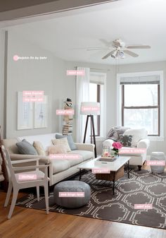 Leaning towards Dolphin Fin, one shade darker on the swatch card. The Silver Drop reads almost white in our living room. Alaina's apartment on Live Creating Yourself is all done in Dolphin Fin and it's just gorgeous (more pics at the link.)