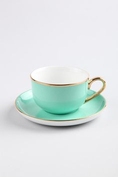 Lovely cup and saucer...adore the gold trim.