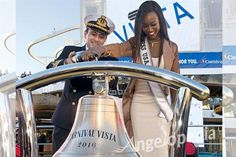 Miss USA 2016 Deshauna Barber christens Carnival Vista, cheers for Operation Homefront