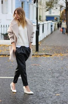 Your Guide To Wearing Baggy Leather Jeans Now