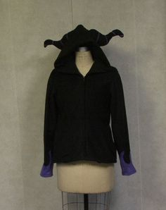 Maleficent Disney Villain hoodie - made to order. via Etsy.