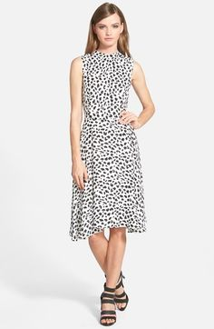 June+&+Hudson+Animal+Print+Midi+Dress+available+at+#Nordstrom