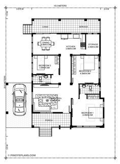 Small Three Bedroom House Plans - 12 Small Three Bedroom House Plans, Simple yet Elegant 3 Bedroom House Design Shd 3 Bedroom Home Floor Plans, Three Bedroom House Plan, 3 Bedroom House, Bedroom Small, Bedroom Doors, My House Plans, Small House Plans, House Floor Plans, Modern Bungalow House