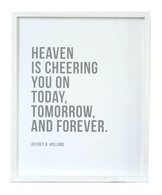 3603a102ef8d Heaven Cheering You On (16x20 Framed Art) by Latter Day Home. Available now