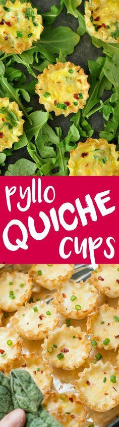 Mini Phyllo Quiche Cups :: so quick and easy to make!
