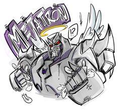"yedgart:  "" got the joke?…heh  sorry I get fun with his name  Megatron © Hasbro  Art © Yesica Denise G. 2013  """