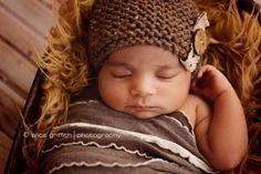 Newborn ThreeTone Knit Ruffle Stretch Wrap by ItsyBitsyBlooms, $17.00
