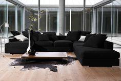siyah modern koltuk dizaynı