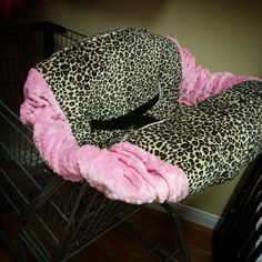 Cheetah Leopard Shopping Cart Cover. by GraceMadisonDesigns