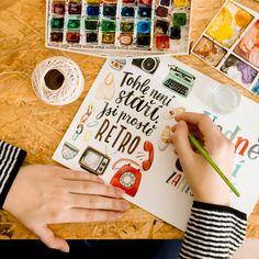 #chaukiss #retro #narozeniny #přání #přáníčko #lettering #ilustrace #illustration #art #lettering #dárek #maličkost #blahopřání #stáří Retro, Illustration, Quotes, Quotations, Illustrations, Retro Illustration, Quote, Shut Up Quotes