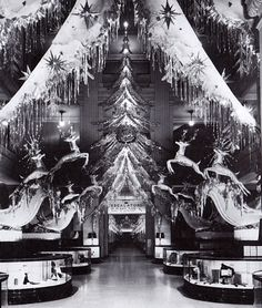 Marshall Field's Department store Christmas display c. 1940s.