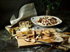 ESSBAR: frittierte Polenta mit Waldpilzen