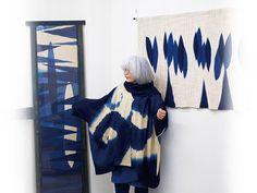 Indigo dyed textiles by Fumiko Satou
