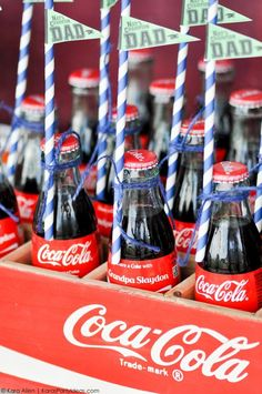 Baseball party for Father's Day by Kara Allen | Kara's Party Ideas for Coca-Cola #shareacoke #shareacokecontest