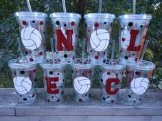 cute volleyball cups!