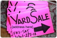 10 best tips for having a successful yard sale!