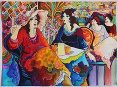 Patricia Govezensky- Dinner and Leisure   Original Watercolor   COA   ART Artist