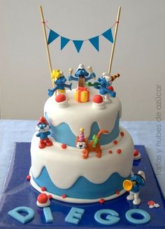 Party and event ideas and inspirations Cupcakes, Cake Cookies, Cupcake Cakes, Baby Cakes, Bithday Cake, Fantasy Cake, Rainbow Food, Birthday Cake Decorating, Cakes For Boys