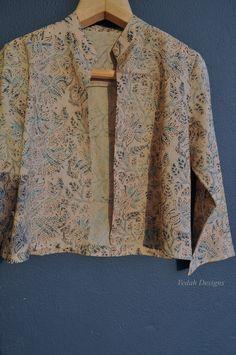 Reserved Kalamkari jacket Block print jacket women Cotton short jacket by VedahDesigns on Etsy