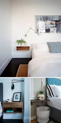 History of the Murphy Bed Guest Bedroom Home Office, Guest Bedrooms, Diy Design, Interior Design, Diy Bed, Murphy Bed, Home Renovation, My Room, Floating Nightstand
