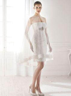 ELIZABETH - Short Strapless Cheap Short/Mini Lace Wedding dress