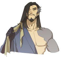 I have mixed feelings for hair down Hanzo Overwatch Hanzo, Overwatch Comic, Overwatch Fan Art, Overwatch Drawings, Hanzo Shimada, Otaku, Amazing Drawings, Cartoon Games, Down Hairstyles