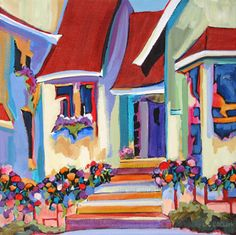 contemporary building painting by Carolee Clark