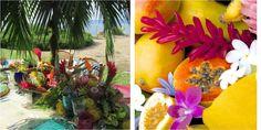 Decoración tropical para bodas, ¡a todo color!