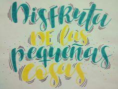 Instagram: mon_glezz Motivation Monday Frases bonitas Lettering Challenge Brush Lettering