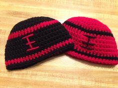Football crochet hats https://www.facebook.com/KatfishcokeHandmadeCrochet