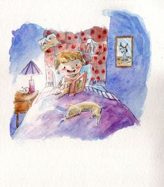 Mi leggi una storia? by IreneMontano #book #illustration #watercolor #storybookillustration