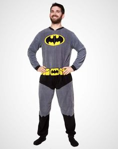 Party points to ME! I just found the Batman Fleece One Piece Pajamas from Spencer's. Visit their mobile website to get this item and more like it.