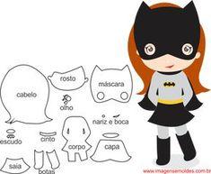 Felt Animal Patterns, Quiet Book Patterns, Stuffed Animal Patterns, Batman E Batgirl, Batman Robin, Fabric Dolls, Paper Dolls, Peluche Star Wars, Diy With Kids
