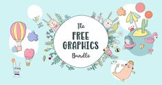 The Free Graphics Bundle includes illustrations and cute graphics from some very generous designers. Commercial License Included.