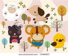 cute puppy illustration