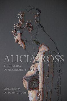 """The Distress of Uncertainty"" - Alicia Ross. Textile Fiber Art, Textile Artists, Frida Art, Thread Art, A Level Art, Learn Art, Sewing Art, Expositions, Life Drawing"