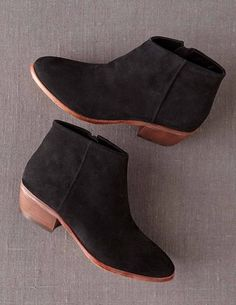 301c3302e6b Chic Ankle Boot (Black) Suede Ankle Boots
