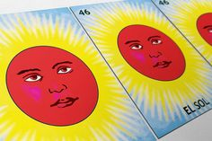 Loteria El Sol Mexican Retro Illustration Art Print Vintage Giclee on Paper Canvas Poster Wall Decor #loteria #ElSol #mexican #mexico #print #homedecor #retro  #art #wallart #walldecor #prints #artprint #etsy