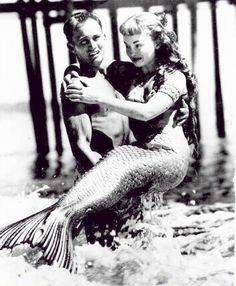 "Ann Blyth on the set of ""Mr. Peabody and the Mermaid"" 1948"
