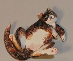 Fine Art Miniatures by Natasha, featuring shadow boxes, miniature paintings, painted sculptures, and dollhouse scale decorated period furniture. Big Cats, Sculpting, Kittens, Sculptures, Miniatures, Fine Art, Dogs, Painting, Cute Kittens