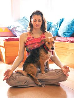 """Get in touch with your dog with """"doga."""" #pets #health"""