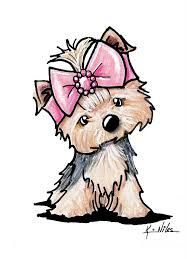 Yorkie In Bow Drawing & Tap the pin for the most adorable pawtastic fur baby. The post Yorkie In Bow by Kim Niles appeared first on Bruce Kennels. Animal Drawings, Cute Drawings, Boo Puppy, Puppy Clipart, Bow Drawing, Puppy Drawing, Yorkies, Yorkshire Terrier, Dog Art