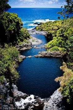 Seven Sacred Pools - Maui, Halakeala National Park, Hawaii. According to Meg Ryan's character in the film IQ the water is so aerated it feels like a million kisses on your skin. Delicious.