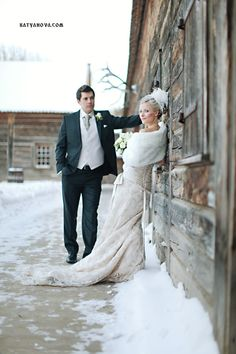 Fort Edmonton Park - Winter wedding photo shoot. Fur would be the best part of a winter wedding!