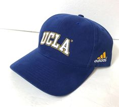 rare ADIDAS UCLA BRUINS HAT Darker Blue Curved Bill Structured Fit  Men Women vtg   a626f4235c74